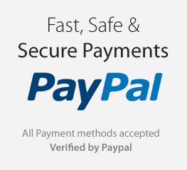 Verified by Pay Pal for Fast, Safe and Secure Payments Online