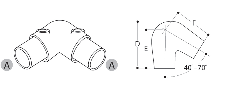 Tube Clamp Acute Angle Elbow 123-4