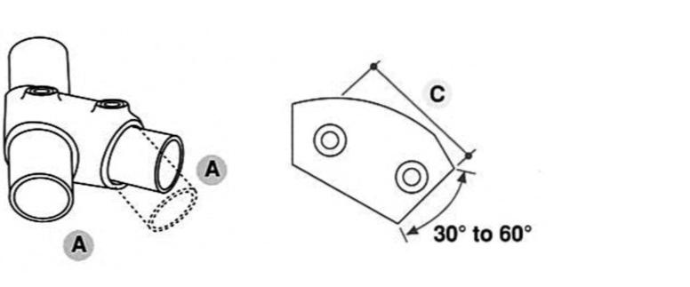 Tube Clamp Adjustable Tee 129