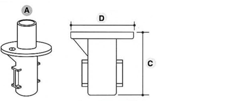 Tube Clamp Ground Socket 134