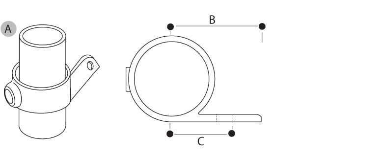 Tube Clamp Single Lugged Bracket 199