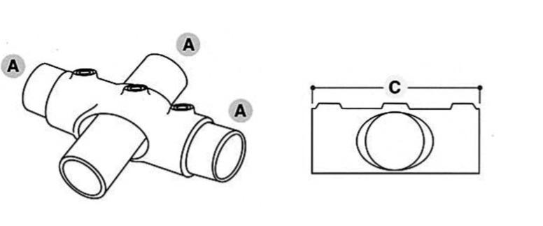 Tube Clamp Slope Socket Cross 0-11° 219