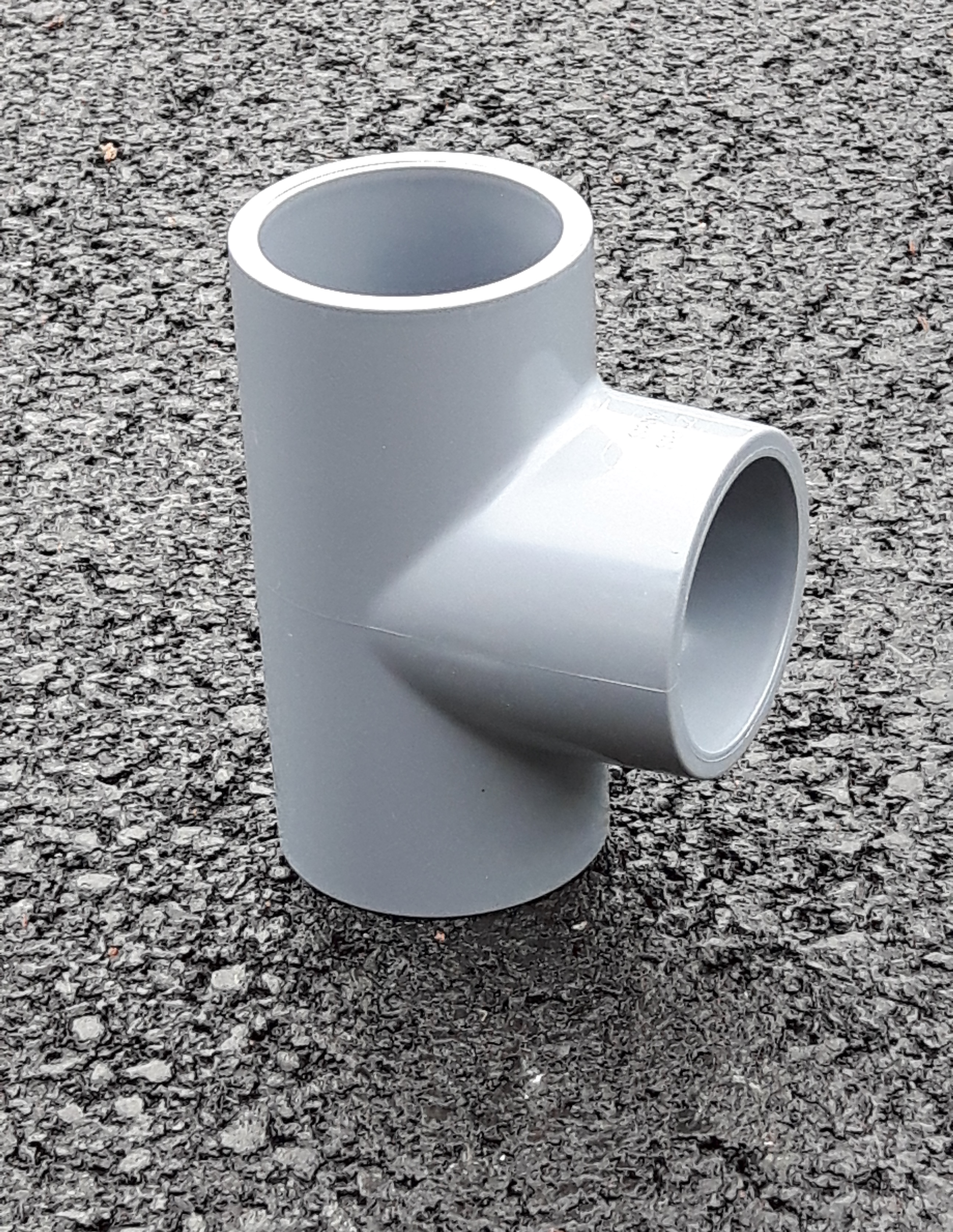 Abs tee solvent weld plastic proteus fittings
